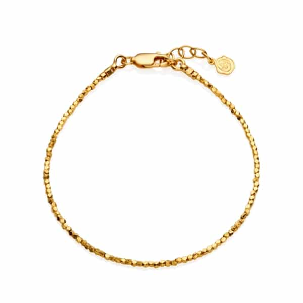 Tiny Yellow Gold Nugget Bracelet