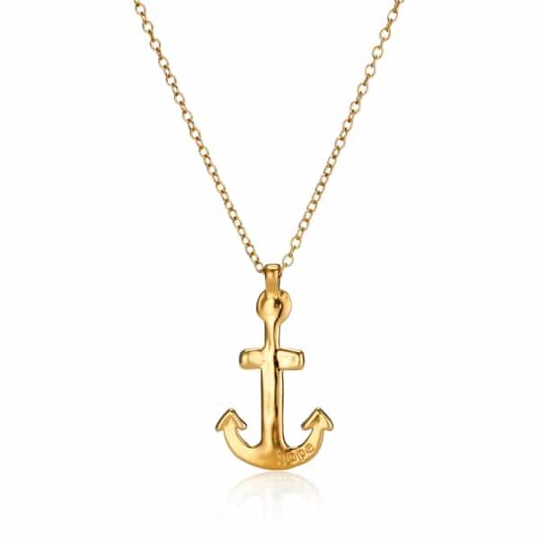 Maxi Yellow Gold Anchor Necklace