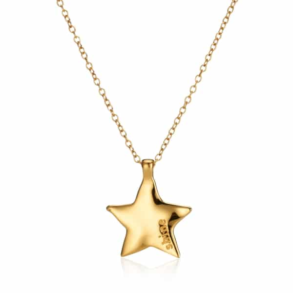 Maxi Yellow Gold Star Necklace_1