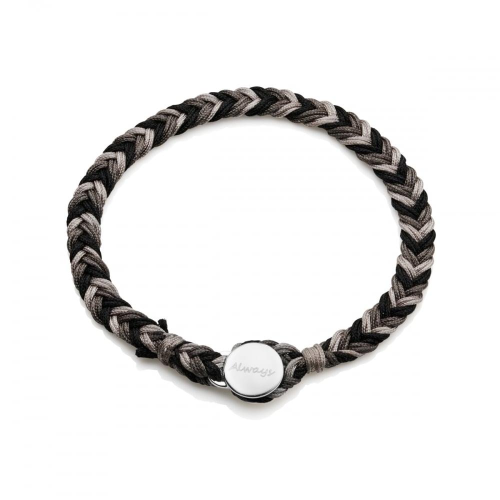 823dc9b0b72d0 Men's Personalised Silver Friendship Bracelet   Under the Rose