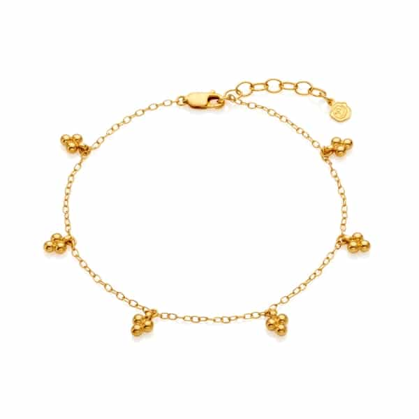 New Yellow Gold Tiny Anklet