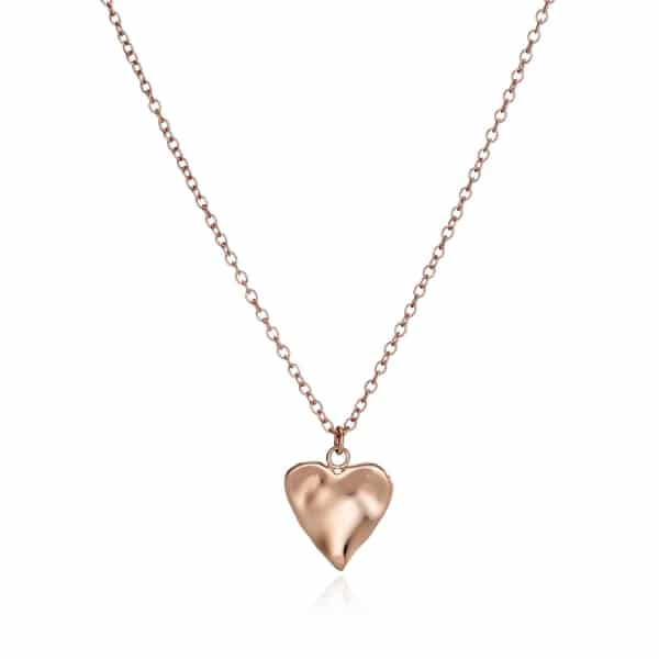 Rose Gold Heart Charm Necklace_1