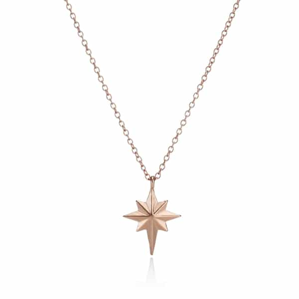 Rose Gold North Star Necklace_1
