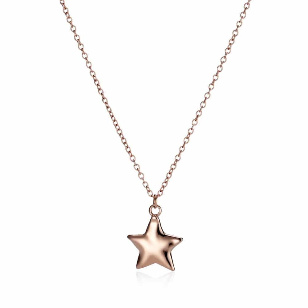 355c32a8e65f4 Small Personalised Rose Gold Star Necklace | Under the Rose