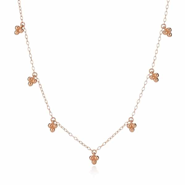 Rose Gold Tiny Bead Necklace