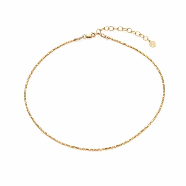 Tiny Yellow Gold Nugget Choker