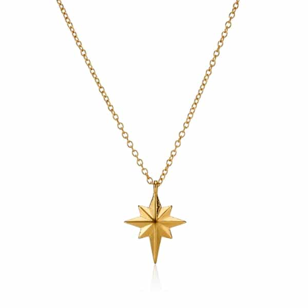 Yellow Gold North Star Necklace_1