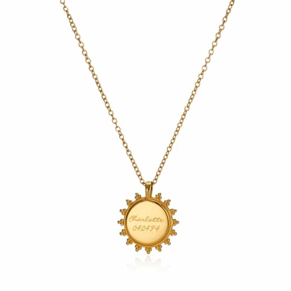 Yellow Gold Signiture Logo Necklace