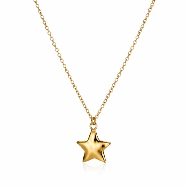 Yellow Gold Star Chram Necklace_1