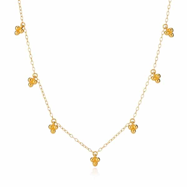Yellow Gold Tiny Bead Necklace