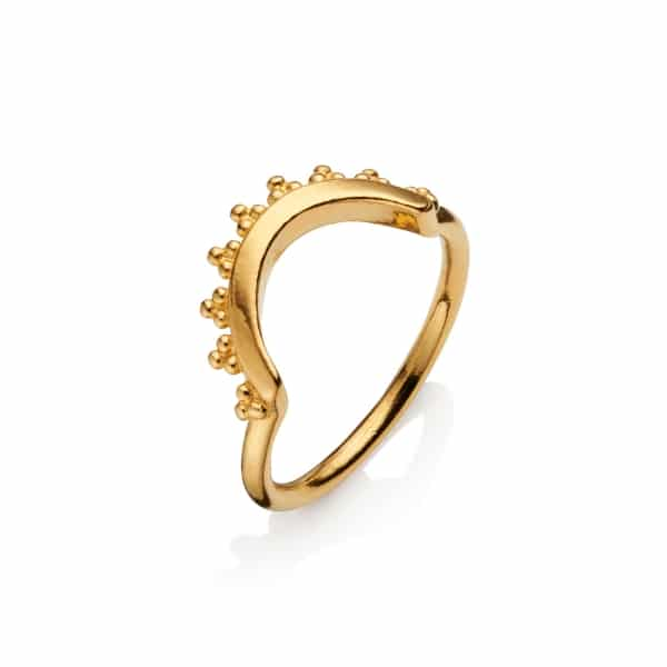 Yellow Gold Sig Logo Ring