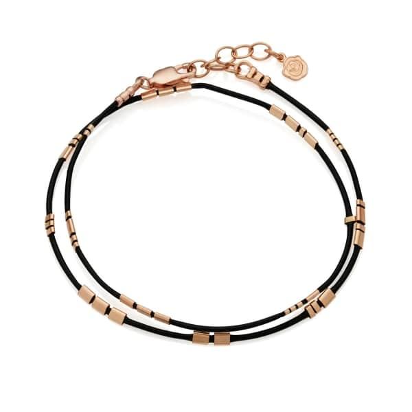 Morse Code Bracelet black gold