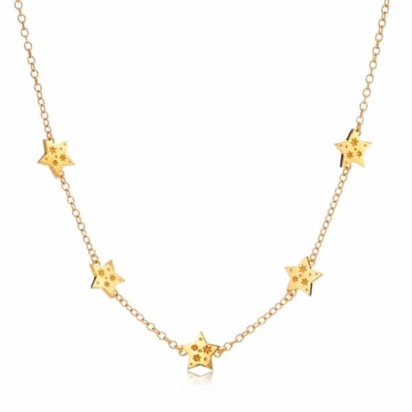 Yellow Gold_all my stars necklace