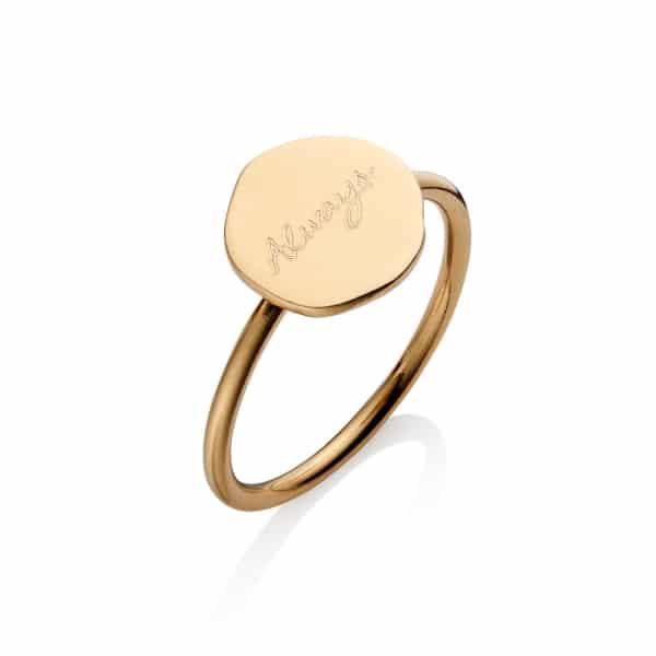Gold Organic Circle Ring