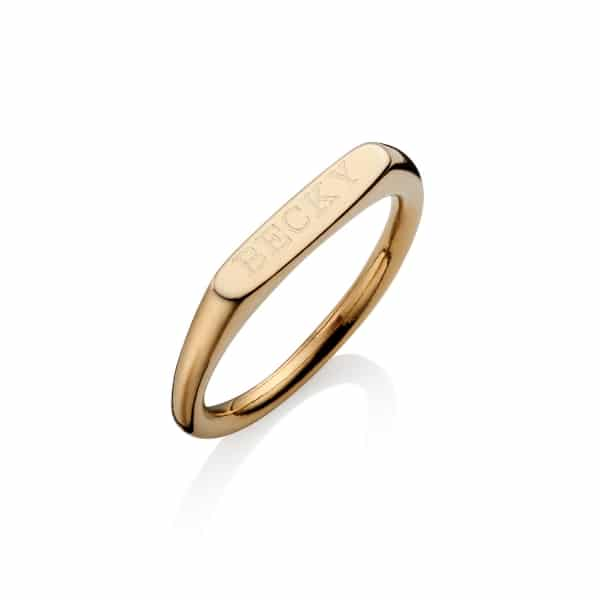 Gold Stacking Band Ring