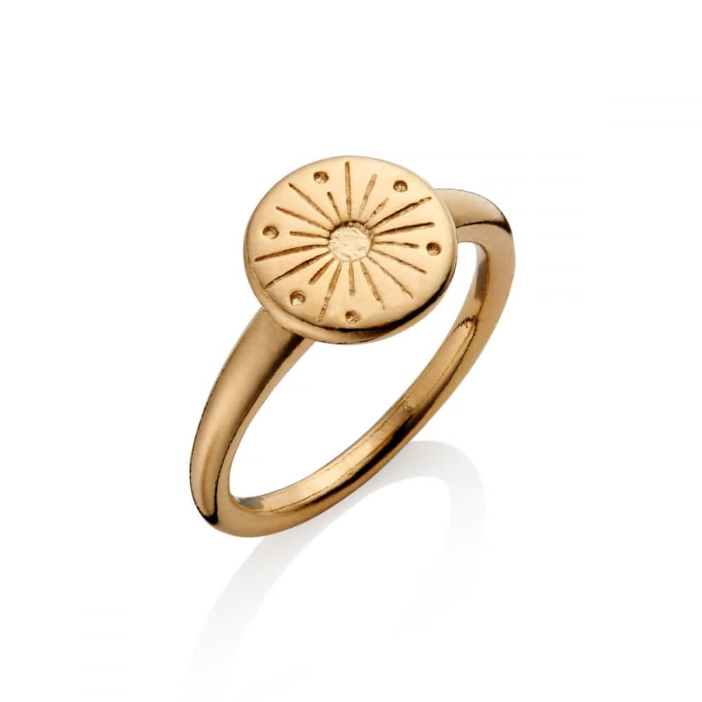 You Are My Sunshine Gold Sun Ring | Under the Rose