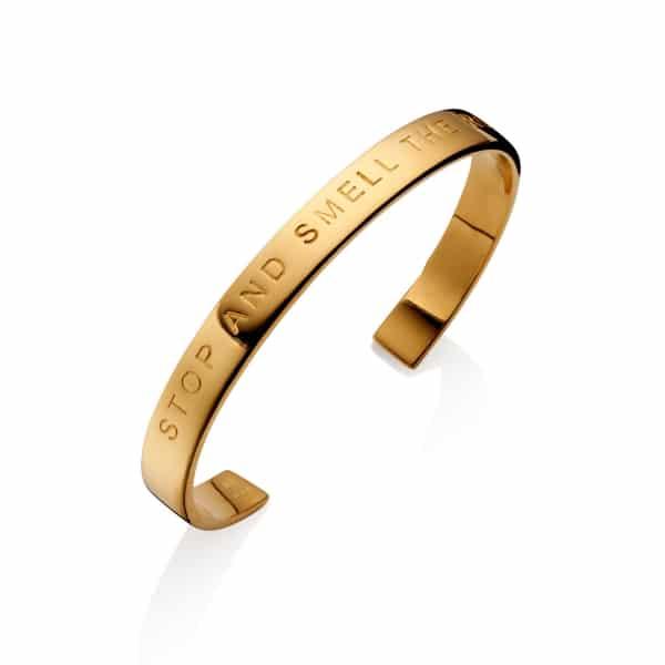 Gold Thankfullnes Bangle