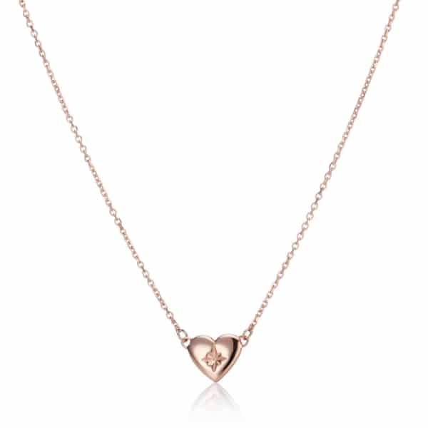 Rose Gold North Star Heart Necklace_2