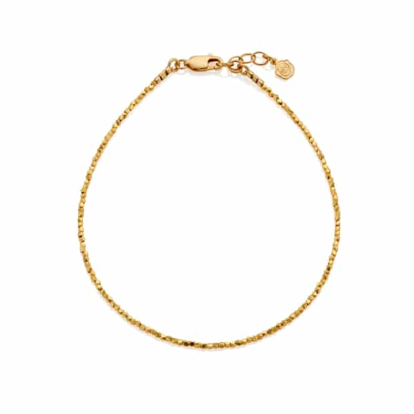 Yellow Gold Slim Nugget Anklet