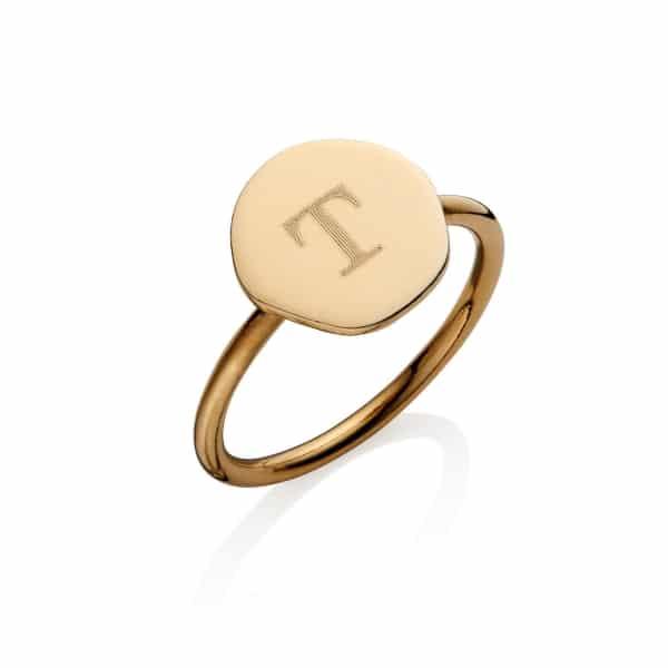 round initial ring