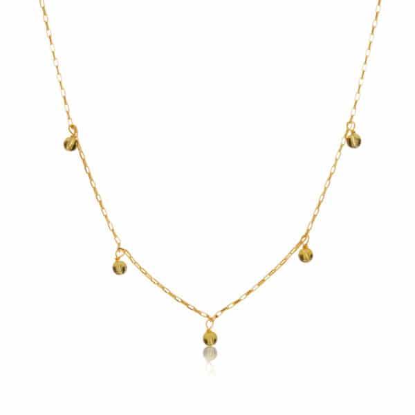 Gold December Birthstone Necklace