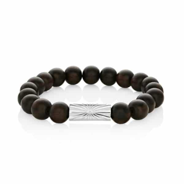 Mens Beaded Bracelet Brown_1