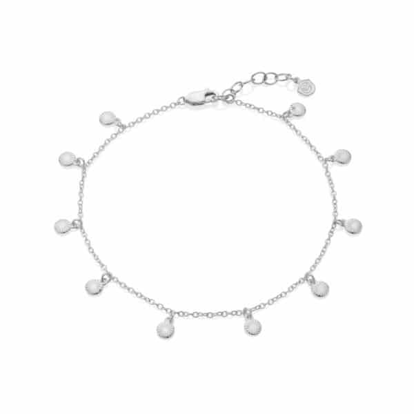 Sun Sequin Anklet Silver