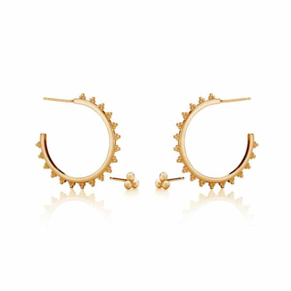 Sterling Silver Maxi Signature Hoop and Signature Stud group_gold
