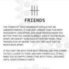 GLYPHS card FRIENDS