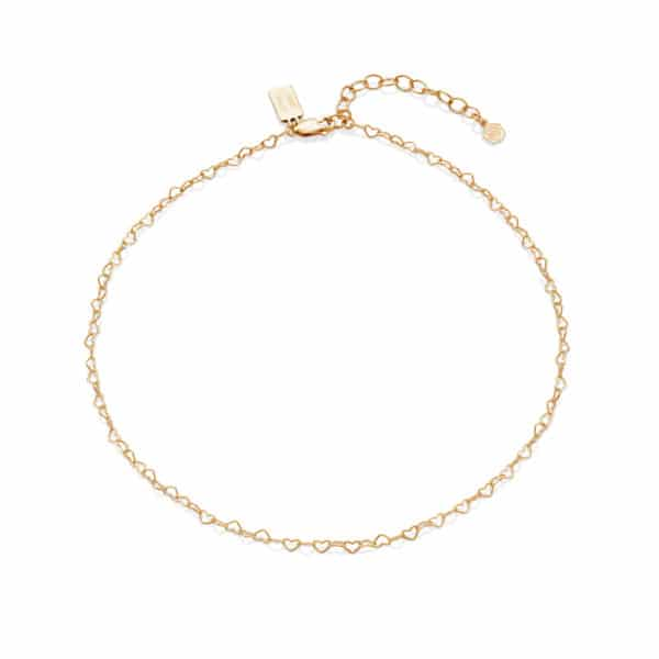 Love heart Choker Tiny Tag_Gold