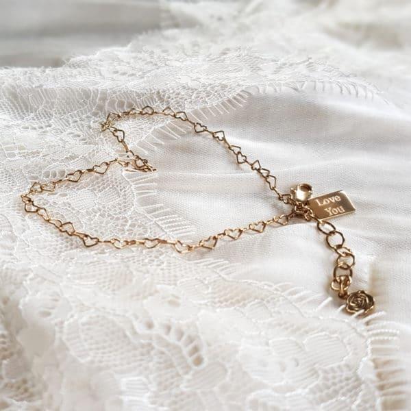 heart bracelet tag