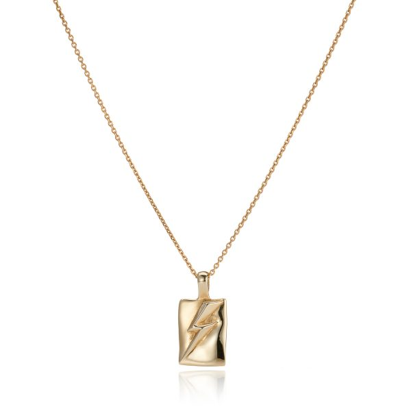 Lightening Bolt Necklace_Gold