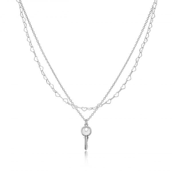 Heart Chain group silver